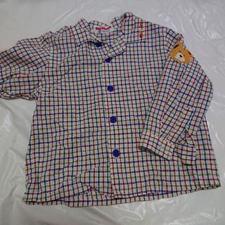 ミキハウス(mikihouse)のミキハウス チェックシャツ90センチ(ブラウス)
