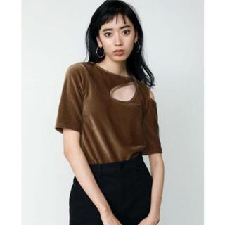 エモダ(EMODA)のEMODA♡コーデュロイカッティングTシャツ(Tシャツ(半袖/袖なし))