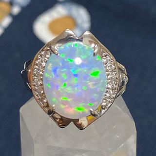 キョウセラ(京セラ)のクレサンベール pt900 オパール プラチナ リング ウォーターオパール 指輪(リング(指輪))