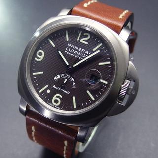 パネライ(PANERAI)の美品 C番 パネライ PAM00057 ルミノール ブラウン パワーリザーブ(腕時計(アナログ))