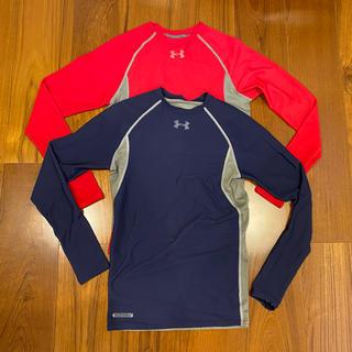 UNDER ARMOUR - アンダーアーマーUA長袖トレーニングウェアメタルシリーズ2点セットMD赤&紺