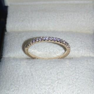 ヴァンドームアオヤマ(Vendome Aoyama)のヴァンドーム K18 PG ダイヤモンド ハーフエタニティ  6号(リング(指輪))