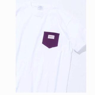 コーエン(coen)のcoen SMITH別注ポケットTシャツパープル サイズL(Tシャツ/カットソー(半袖/袖なし))