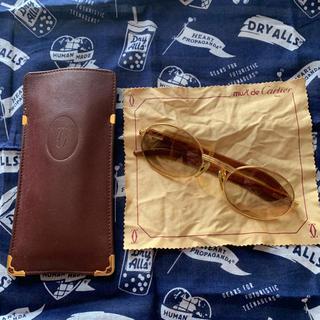 カルティエ(Cartier)のcartier ウッドテンプル サングラス 135b 53 22(サングラス/メガネ)