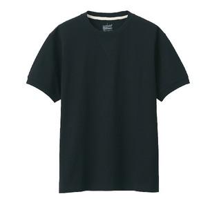 ムジルシリョウヒン(MUJI (無印良品))の無印良品 太番手天竺編み半袖Tシャツ M 黒(Tシャツ/カットソー(半袖/袖なし))