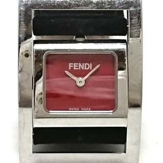 フェンディ(FENDI)のフェンディ 腕時計 - レディース レッド(腕時計)