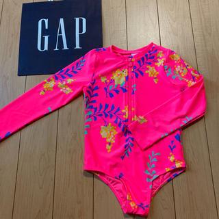 ベビーギャップ(babyGAP)の新品★ 90cm gap 水着 ラッシュガード オールインワン 花柄(水着)