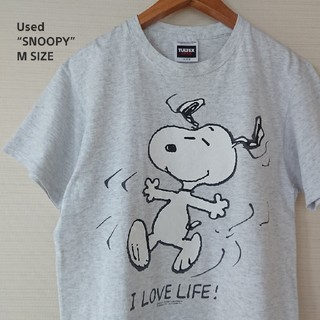 スヌーピー(SNOOPY)の☆US古着TULTEX/スヌーピー/キャラクター/M(Tシャツ/カットソー(半袖/袖なし))