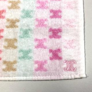 セリーヌ(celine)の新品 未使用 セリーヌ 人気 タオルハンカチ ロゴ 刺繍 CELINE (ハンカチ)