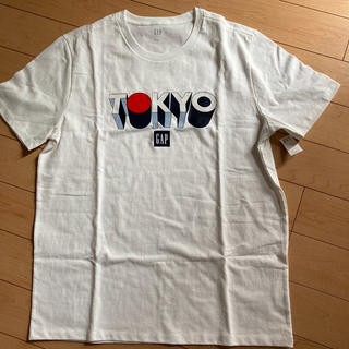 ギャップ(GAP)の新品★ XSサイズ gap メンズ Tシャツ ロゴ 白色(Tシャツ/カットソー(半袖/袖なし))