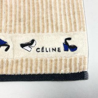 セリーヌ(celine)の新品 未使用 セリーヌ ハンカチタオル ロゴ ベージュ CELINE(ハンカチ)