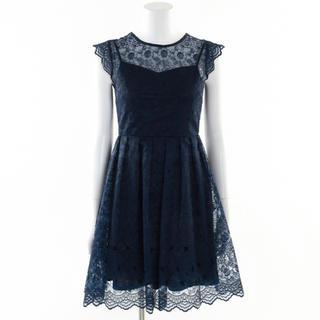 リリーブラウン(Lily Brown)の値下げ フラワーオーガンジーワンピース リリーブラウン(ミディアムドレス)