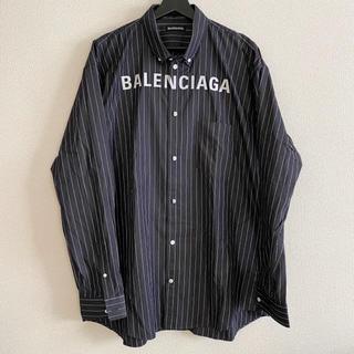 バレンシアガ(Balenciaga)の新品 100%本物 【41】balenciaga ストライプシャツ バレンシアガ(シャツ)