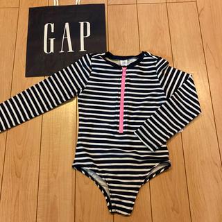 ベビーギャップ(babyGAP)の新品★ 105cm gap 水着 ラッシュガード オールインワン ストライプ(水着)