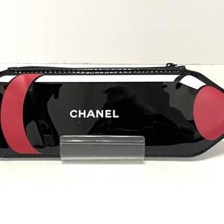 シャネル(CHANEL)のシャネル ペンケース - 黒×レッド×白(ペンケース/筆箱)