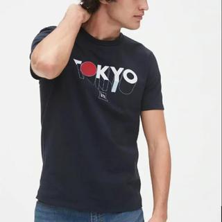 ギャップ(GAP)の新品★ Lサイズ gap メンズ Tシャツ ロゴ tokyo ネイビー(Tシャツ/カットソー(半袖/袖なし))