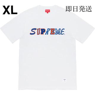 シュプリーム(Supreme)のCollage Logo S/S Top white XL(Tシャツ/カットソー(半袖/袖なし))