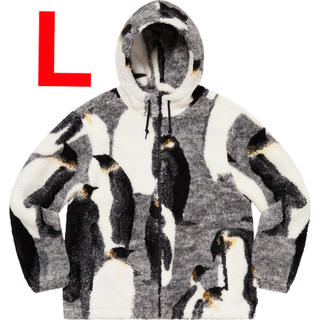 シュプリーム(Supreme)の【L】Penguins Hooded Fleece Jacket(ブルゾン)
