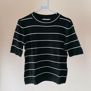 ディーホリック(dholic)のDHOLIC 🍇 スリムフィットボーダーニットTシャツ(カットソー(半袖/袖なし))
