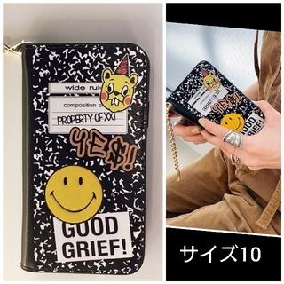 アパルトモンドゥーズィエムクラス(L'Appartement DEUXIEME CLASSE)の新品GOOD GRIEF SMILE patched iphone cover (iPhoneケース)