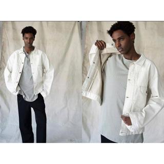 コモリ(COMOLI)の新品 unfil denim jacket 4 ecru beige 20ss(Gジャン/デニムジャケット)