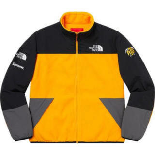 シュプリーム(Supreme)のL Supreme TNF RTG fleece jacket yellow(ブルゾン)