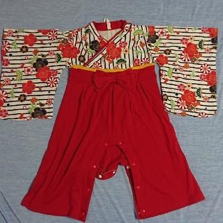専用着物ロンパース 90 たびソックス付き(和服/着物)