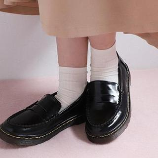 ワンアフターアナザーナイスクラップ(one after another NICE CLAUP)のNICECLAUP♡ローファー【S】ブラック(ローファー/革靴)