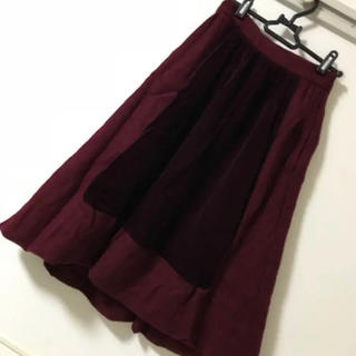 ジェーンマープル(JaneMarple)のジェーンマープル ベロア切り替えスカート(ひざ丈スカート)