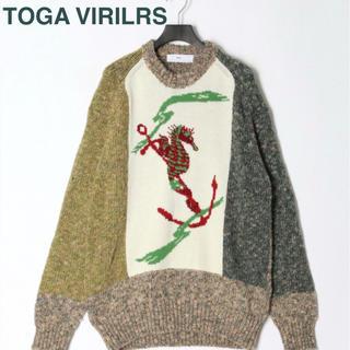 トーガ(TOGA)の【新品】トーガビリリース ニット セーター クレイジーパターン 編み物(ニット/セーター)