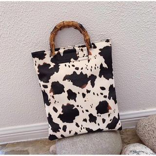 アメリヴィンテージ(Ameri VINTAGE)のカウデザイン バッグ 秋 アニマル 動物 レオパード レディースバッグ(ハンドバッグ)