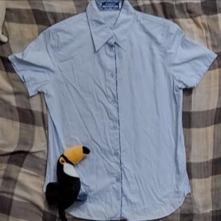 BURBERRY BLUE LABEL - 半袖シャツ 水色