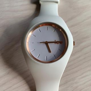 アイスウォッチ(ice watch)のice watch ホワイト ピンクゴールド(腕時計)