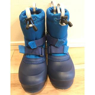 モンベル(mont bell)の【モンベル】スノーブーツ パウダーブーツ キッズ 18cm ブルー(ブーツ)