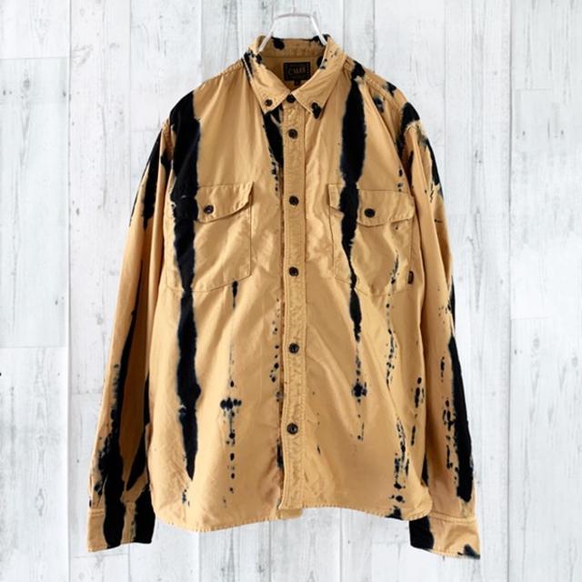 CALEE(キャリー)のCALEE インディゴ染め ボタンダウン ワークシャツ L 長袖 シャツ メンズのトップス(シャツ)の商品写真
