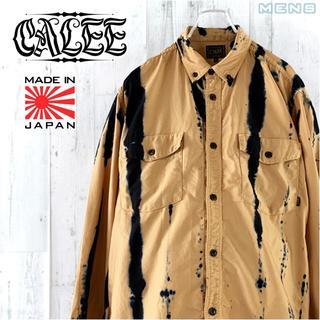 キャリー(CALEE)のCALEE インディゴ染め ボタンダウン ワークシャツ L 長袖 シャツ(シャツ)