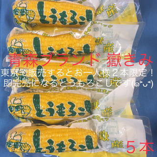 青森ブランド 嶽きみ とうもろこし 真空 5本(野菜)