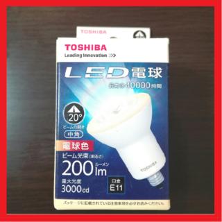 トウシバ(東芝)の【新品】TOSHIBA LED電球 LDR6L-M-E11 200lm 電球色(蛍光灯/電球)