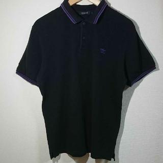 ビームス(BEAMS)のビームス BEAMS ポロシャツ 半袖 メンズ 黒 ブラック L(ポロシャツ)