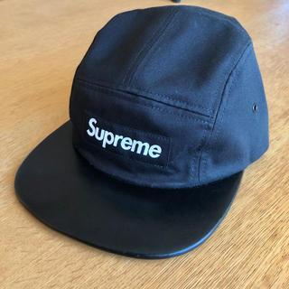 シュプリーム(Supreme)のSupreme Leather visor camp cap black(キャップ)