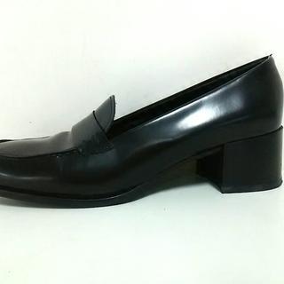 コーチ(COACH)のコーチ ローファー 7 1/2 レディース 黒(ローファー/革靴)