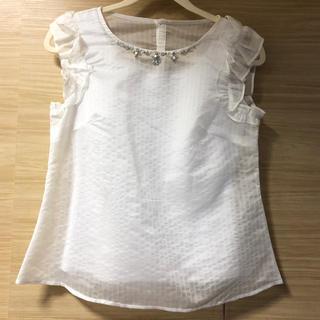 リランドチュール(Rirandture)のリランドチュール  フリル ビジュー シャツ(シャツ/ブラウス(半袖/袖なし))