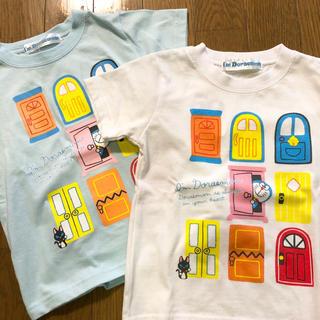 サンリオ(サンリオ)の新品未使用 サンリオ ドラえもん Tシャツ 90 白 水色 2枚(Tシャツ/カットソー)