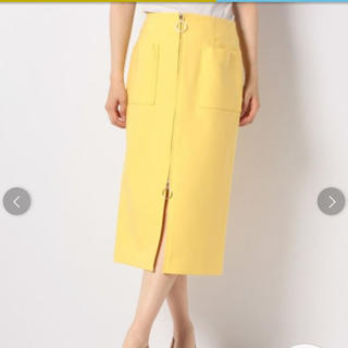 ノーブル(Noble)の Noble♡ダブルクロスフープジップタイトスカート(ロングスカート)