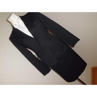 アオキ(AOKI)のSS/5号★アオキAOKI×LES MUES黒無地タイトスカートスーツ★ブラウス(スーツ)