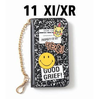 ドゥーズィエムクラス(DEUXIEME CLASSE)の 【GOOD GRIEF!】SMILE patched iphone cover(iPhoneケース)