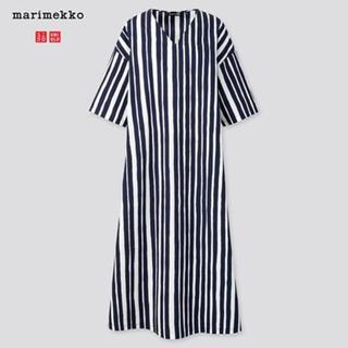 マリメッコ(marimekko)のユニクロ×マリメッコ Vネックマキシ丈ワンピース(ロングワンピース/マキシワンピース)