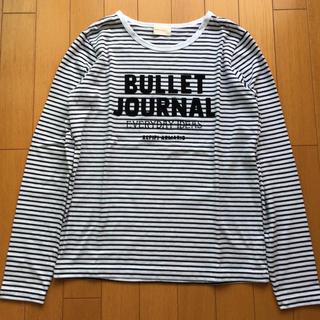 レピピアルマリオ(repipi armario)のレピピアルマリオ ボーダー ロンT M 150 160 白 黒 秋物(Tシャツ/カットソー)