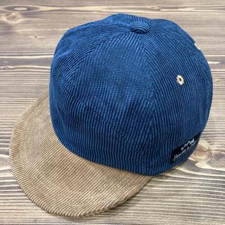 サンカンシオン(3can4on)のバイカラーコーデュロイキャップ NV54(帽子)