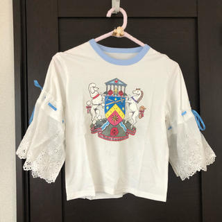 PAMEO POSE - PAMEO POSE  Noble Emblem Lace Tシャツ